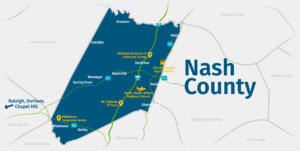 Nash County County Map