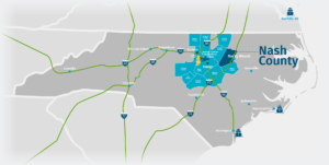 Nash County State Map