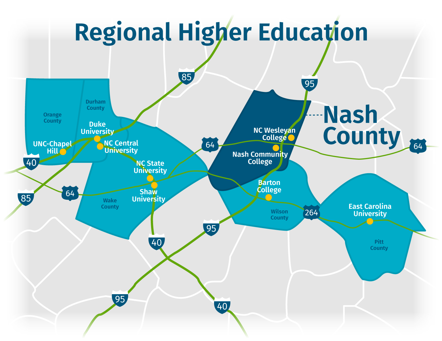 Nash County Regional Education Map